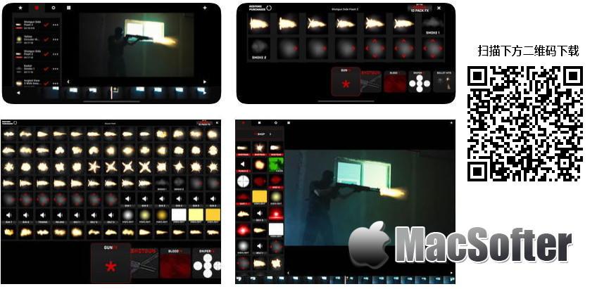[iPhone/iPad限免]Gun Movie FX :  军火风格的枪战视频特效软件