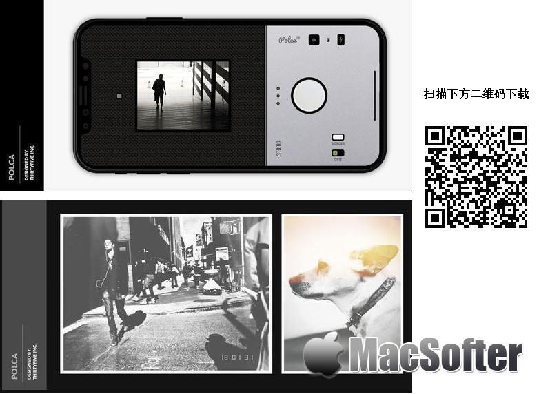 [iPhone限免] Polca BW :复古的黑白滤镜相机软件