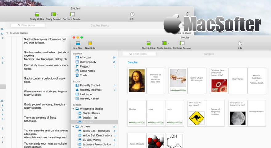 [Mac] Studies :抽认卡(Flashcard)制作及管理工具