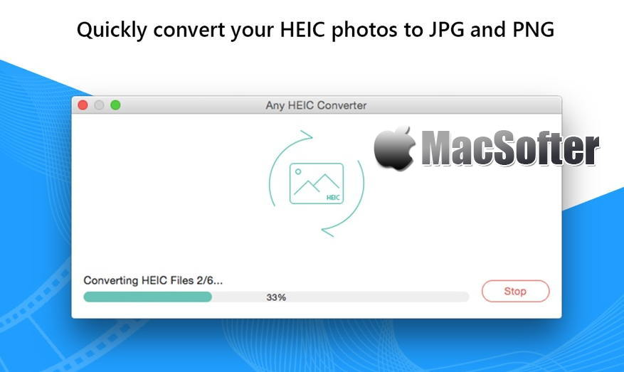 [Mac] Any HEIC Converter-HEIC to JPG : 将HEIC转换为JPG/PNG的照片格式转换器