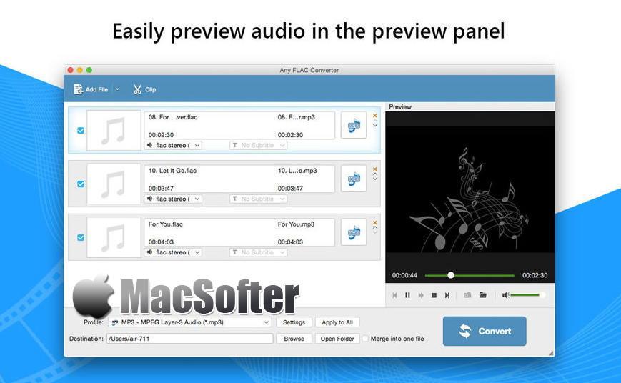 [Mac] FLAC转换器 : FLAC转MP3音乐转换器