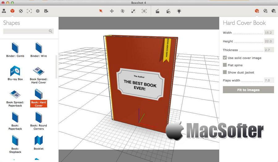 [Mac] Boxshot : 包装盒效果图设计软件
