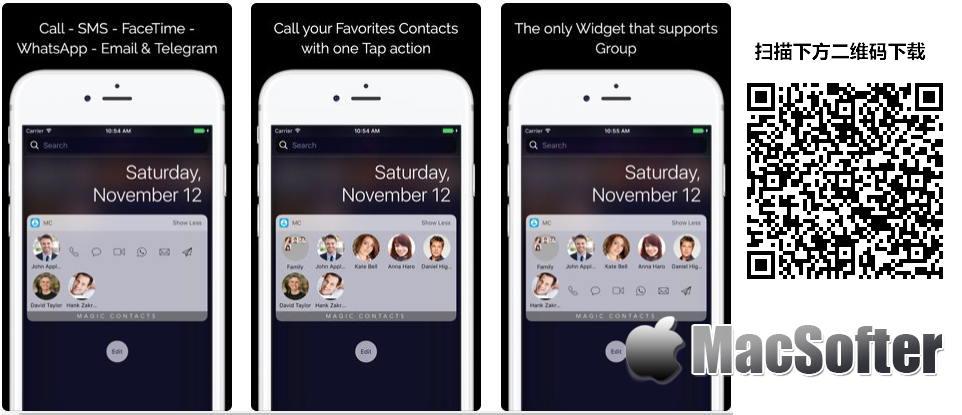 [iPhone/iPad限免] Magic Contacts Pro with Notification Center Widget : 从通知中心快速打电话发短信