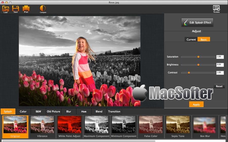 [Mac] My Splash Effects : 方便好用的一键抠图及滤镜特效软件