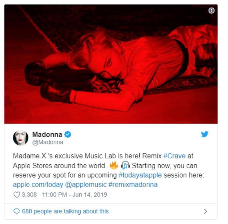 苹果和麦当娜合作推出混音实验室课程 - 将在6月下旬推出