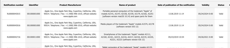 ECC资料库出现7款MacBook - 或将包含16寸MacBook Pro