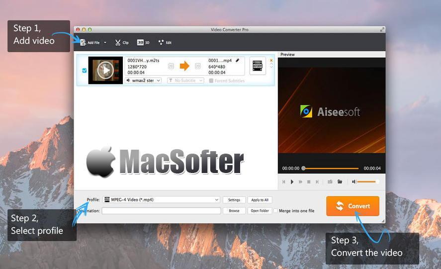 [Mac] Aiseesoft Video Converter Pro : 方便易用的音频视频格式转换工具