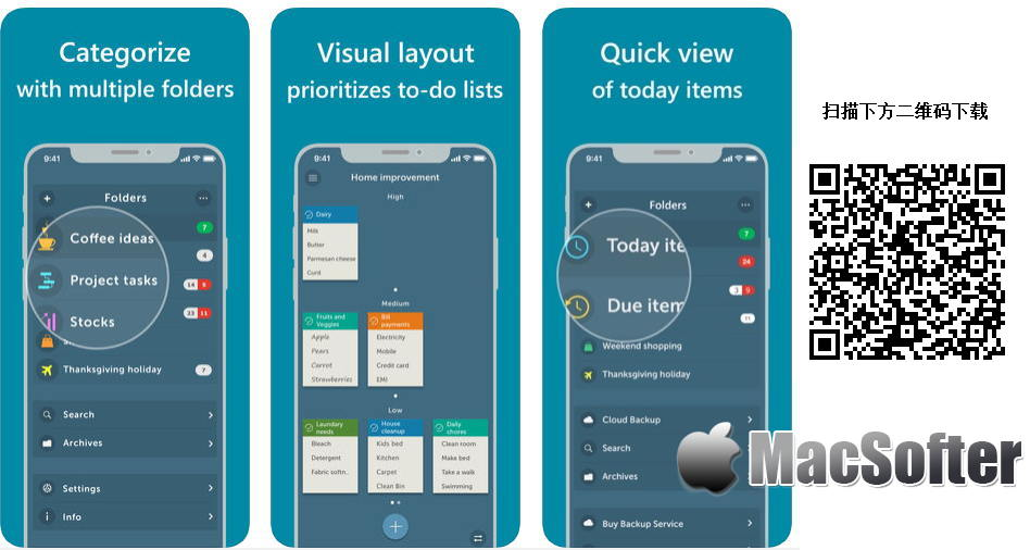 [iPhone/iPad限免] Orderly : 简单好用的Todo待办及清单软件
