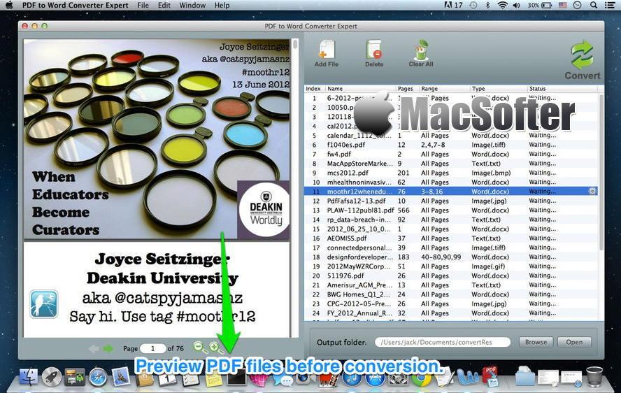 [Mac] PDF to Word Converter Expert : PDF转word文档的软件