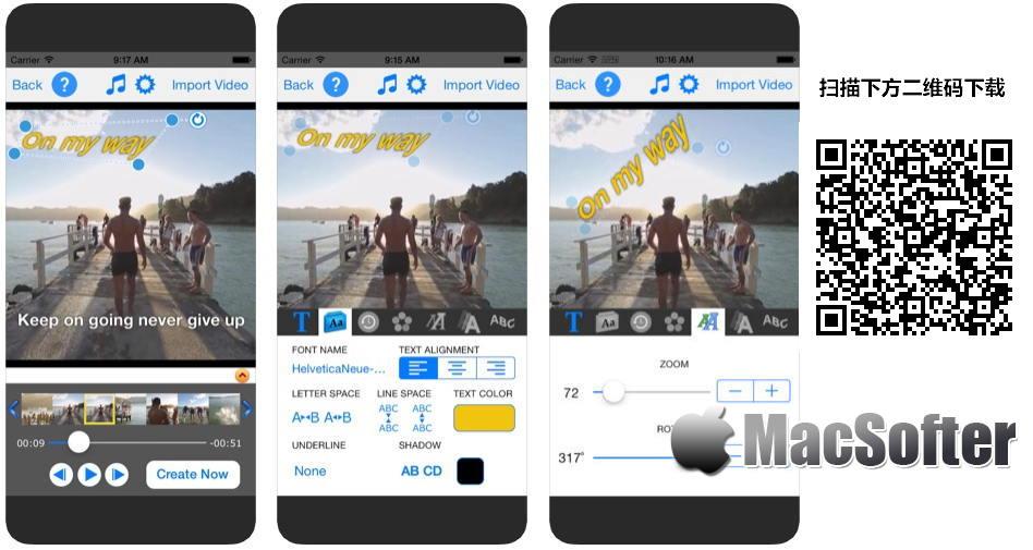 [iPhone/iPad限免] TextVideo : 给视频添加文字水印的软件