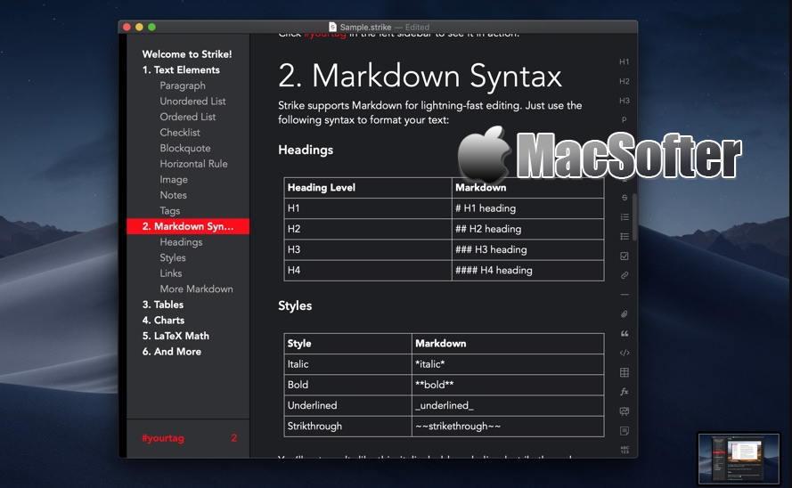[Mac] Strike Writer & Publisher : 支持Markdown的写作软件