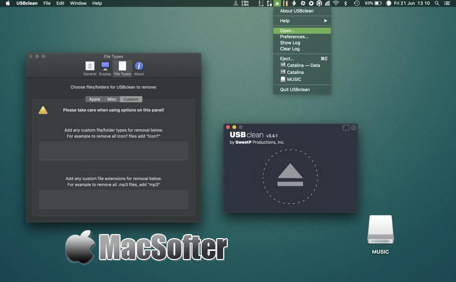 [Mac] USBclean : 外接USB存储设备的垃圾文件清理软件