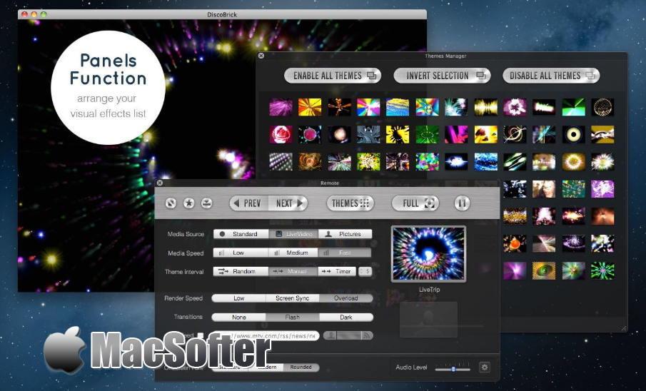 [Mac] DiscoBrick Pro : VJ可视化视频效果软件