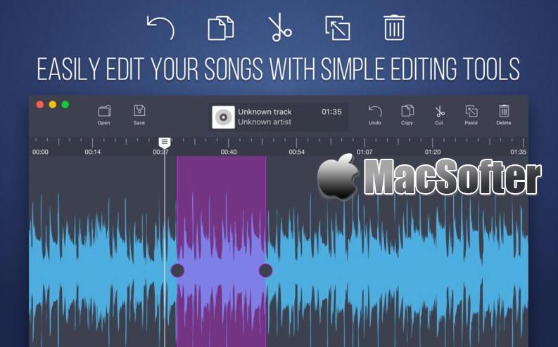 [Mac] Audio Editor : 音乐文件合并拆分编辑软件