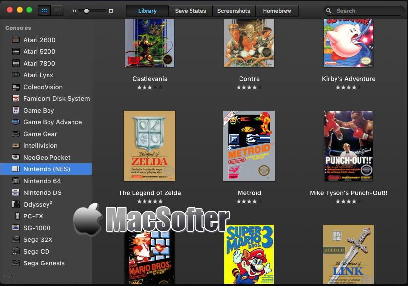 [Mac] OpenEmu : 全面的游戏模拟器软件