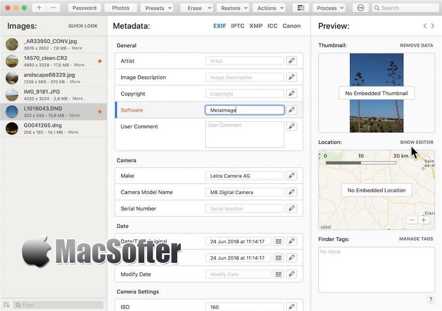 [Mac] MetaImage : 图像元标签数据编辑管理工具
