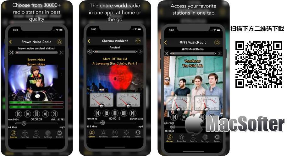 [iPhone/iPad限免] air radio tune : 数万个音乐电台免费收听软件
