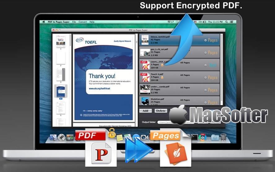 [Mac] PDF to Pages Super :将pdf转换成pages文档格式的软件