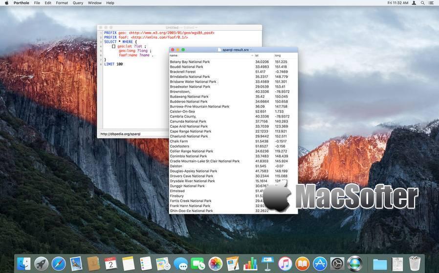 [Mac] Porthole : SPARQL查询语言编辑器