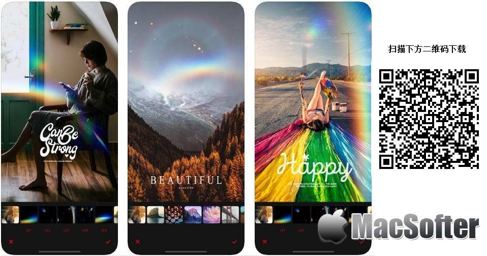 [iPhone/iPad限免] Rainbow Cam : 可以模拟自然彩虹效果的相机软件