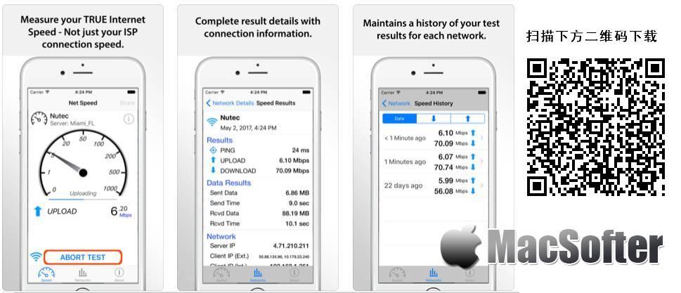 [iPhone/iPad限免] Net Speed Pro : 专业的网速测试软件