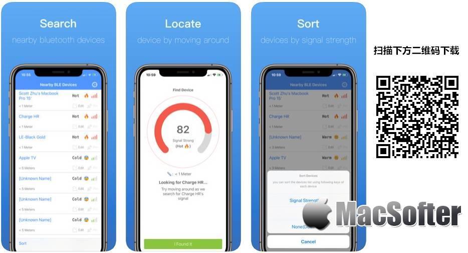 [iPhone/iPad限免] BLE Finder : 蓝牙设备扫描定位寻找工具
