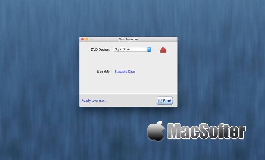 [Mac] Disc Erase Pro : dvd及cd光盘内容擦除工具