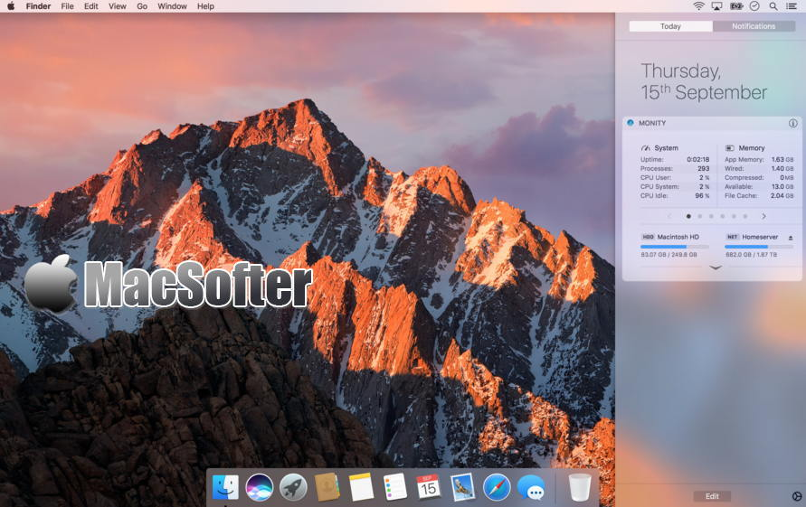 [Mac] Monity : 系统运行信息实时监测软件