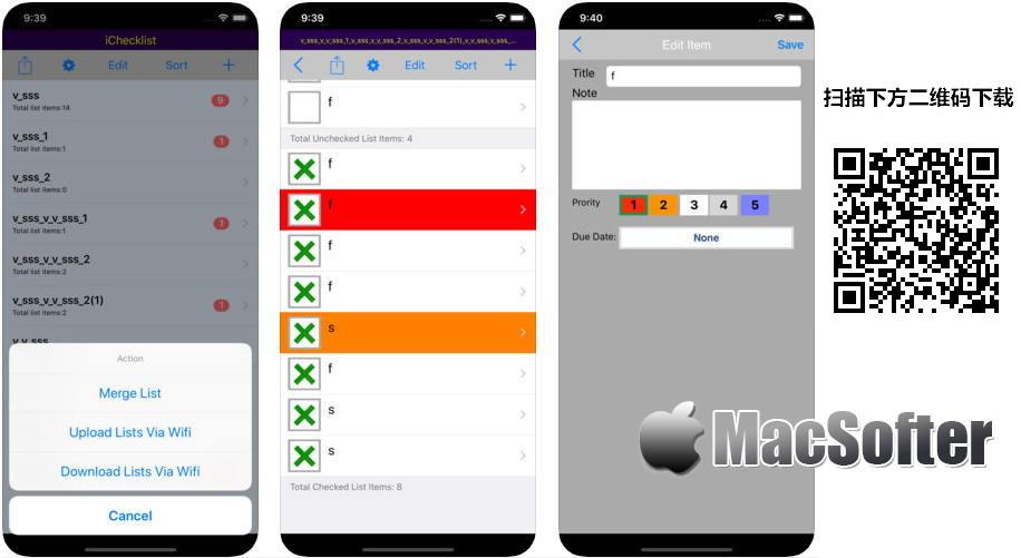 [iPhone限免] iChecklist :实用的待办列表清单软件