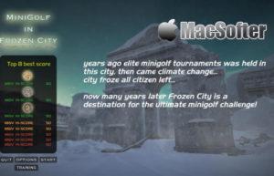 [Mac] MiniGolf in Frozen City : 冰天雪地的高尔夫球游戏