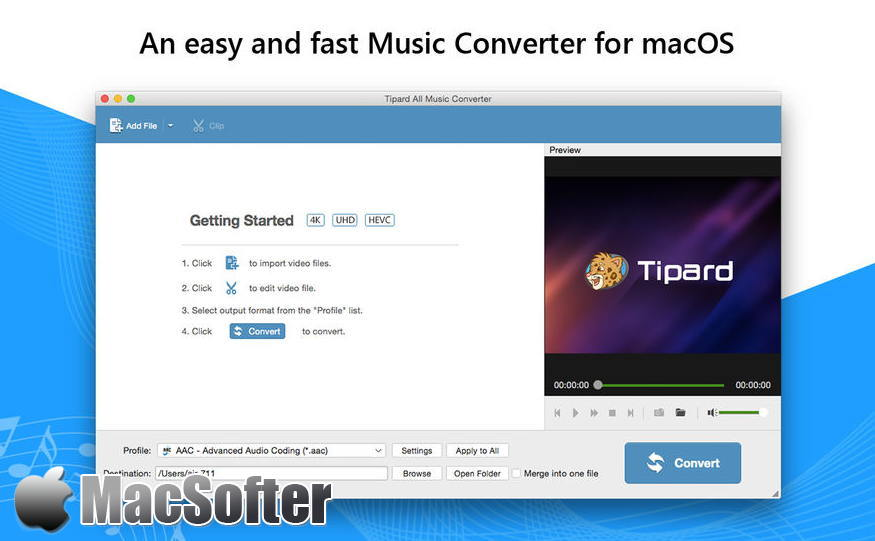 [Mac] Tipard 音乐转换器 : 全能音频格式转换器