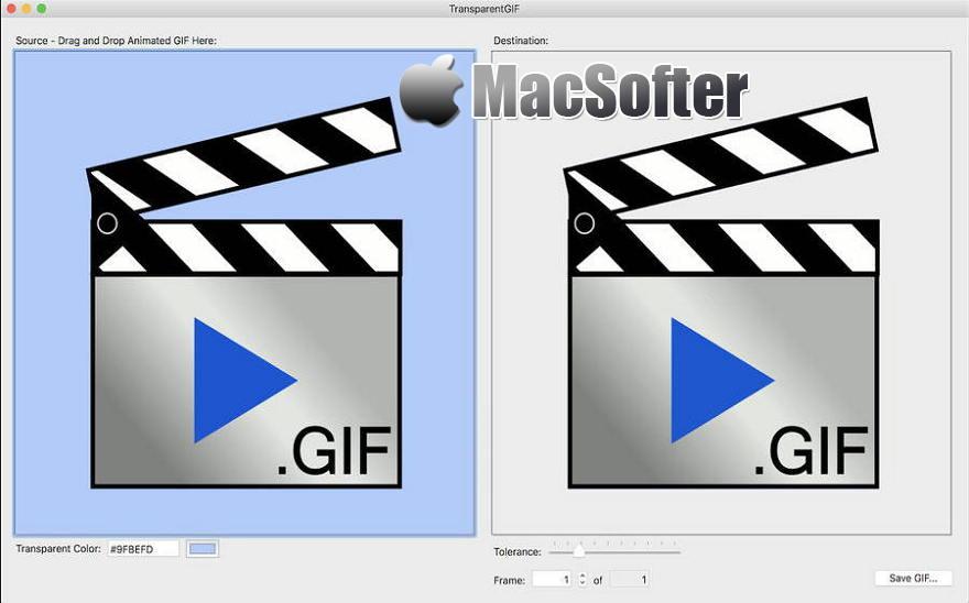 [Mac] TransparentGIF : 快速一键清除GIF动画背景颜色的软件