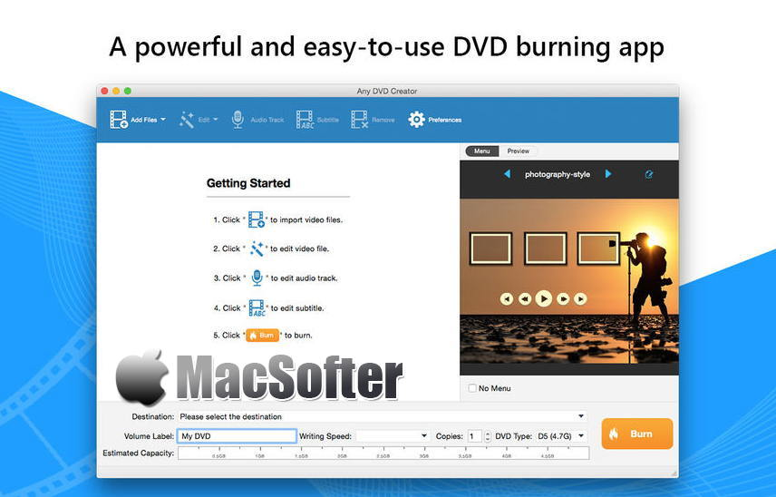 [Mac] Any DVD刻录 :方便好用的DVD刻录软件