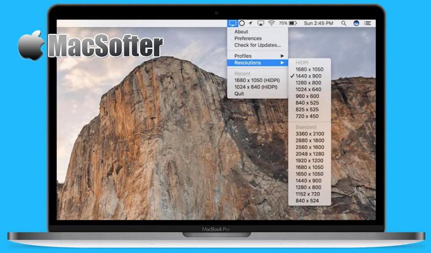 [Mac] QuickRes : 苹果屏幕分辨率快速切换软件