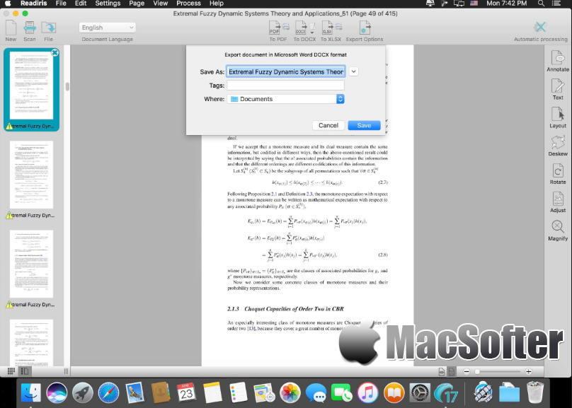 [Mac] Readiris Pro : 强大的OCR文字识别软件