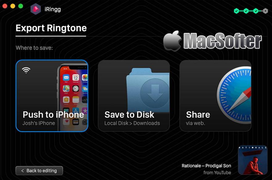 [Mac] iRingg : iPhone手机铃声制作软件