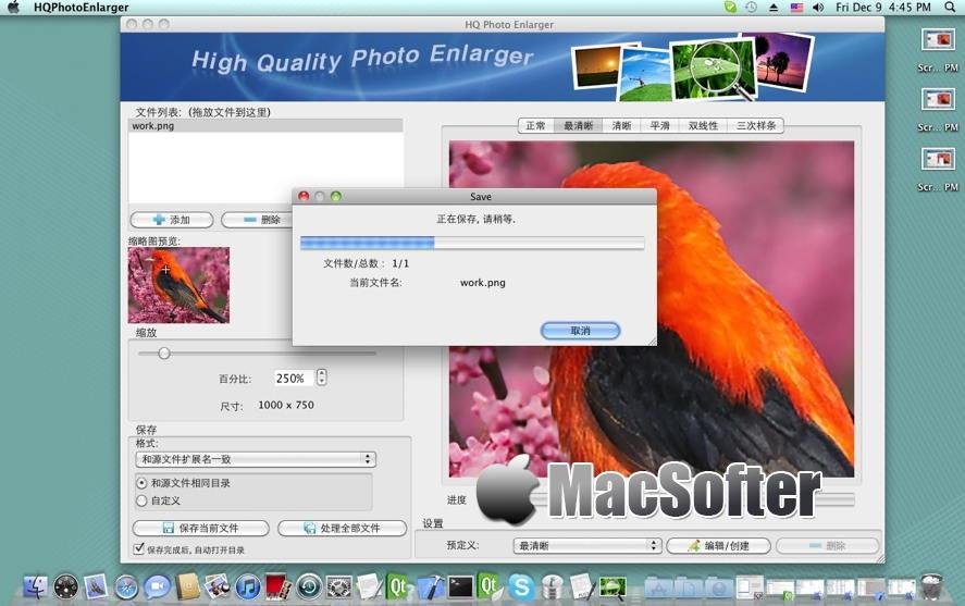 [Mac] HQ Photo Enlarger : 图像照片无损放大软件