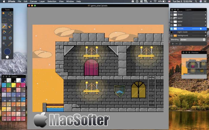 [Mac] 2Pixels : 像素风格的图像制作软件