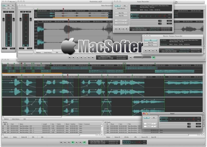 [Mac] DSP-Quattro :专业的音频编辑软件