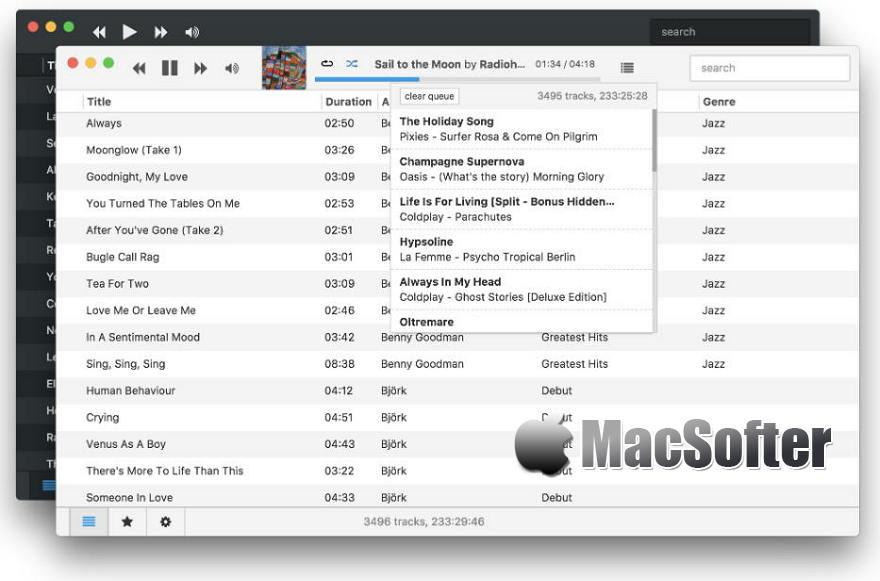 [Mac] Museeks : 简单好用的音乐播放器