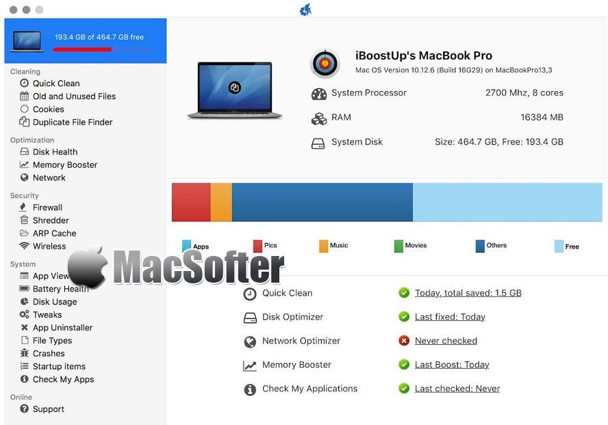 [Mac] iBoostUp :系统清理优化修复软件