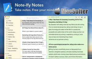 [Mac] Note-Ify Notes : 实用的写作笔记软件