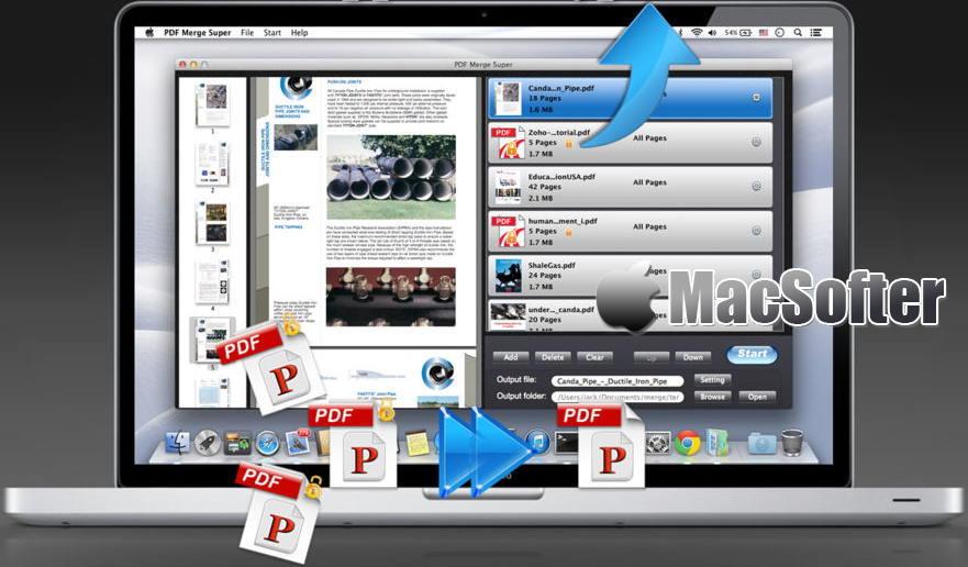 [Mac] PDF Merge Super :  PDF文件合并工具