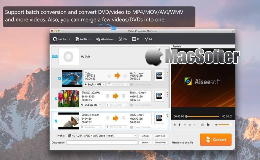 [Mac] Video Converter Platinum(视频转换器白金版) :强大的视频格式转换软件