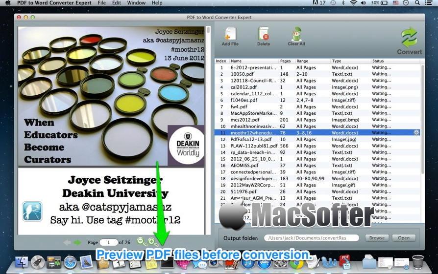 [Mac] PDF to Word Converter Expert : pdf转word格式转换器