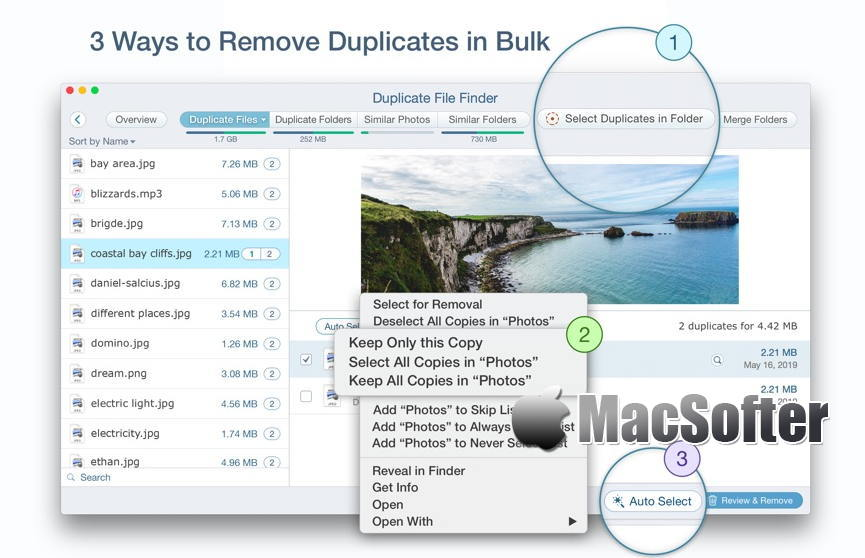[Mac] Duplicate File Finder Remover : 重复文件查找删除软件
