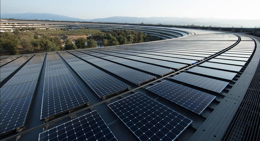 Apple太阳能使用率是全美第一