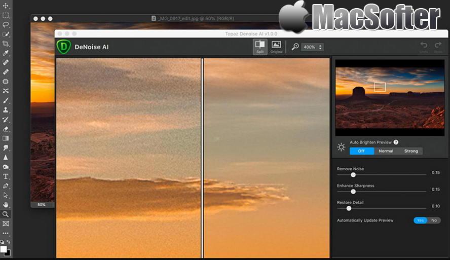 [Mac] Topaz DeNoise AI :基于AI智能的照片降噪软件