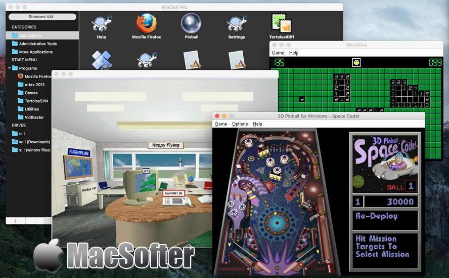 [Mac] WinOnX 64 :Mac打开Windows软件