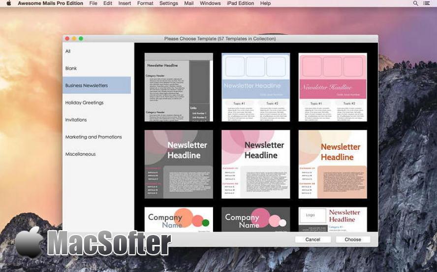 [Mac] Awesome Mails Pro : 邮件模板集合工具